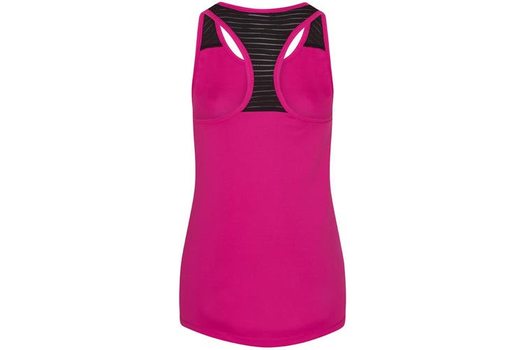AWDis Just Cool Womens/Ladies Girlie Smooth Workout Sleeveless Vest (Hot Pink) (XS)
