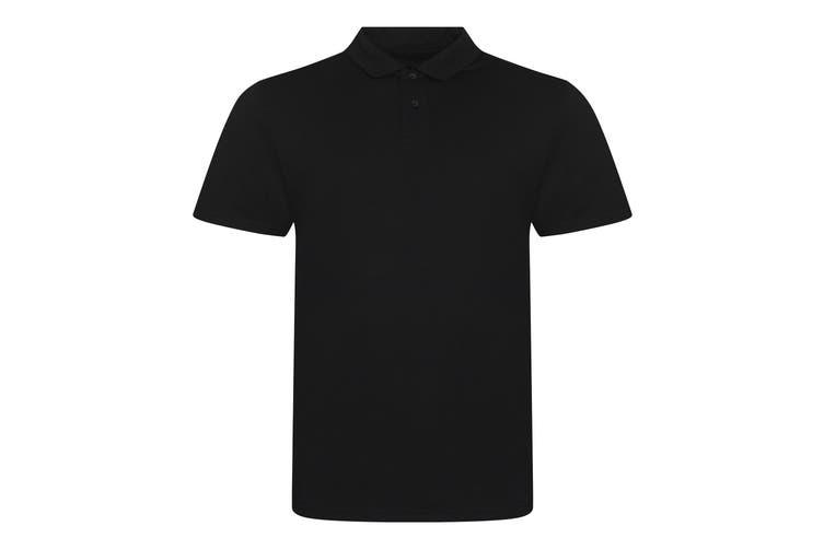 AWDis Mens Tri-Blend Polo Shirt (Solid Black) (L)