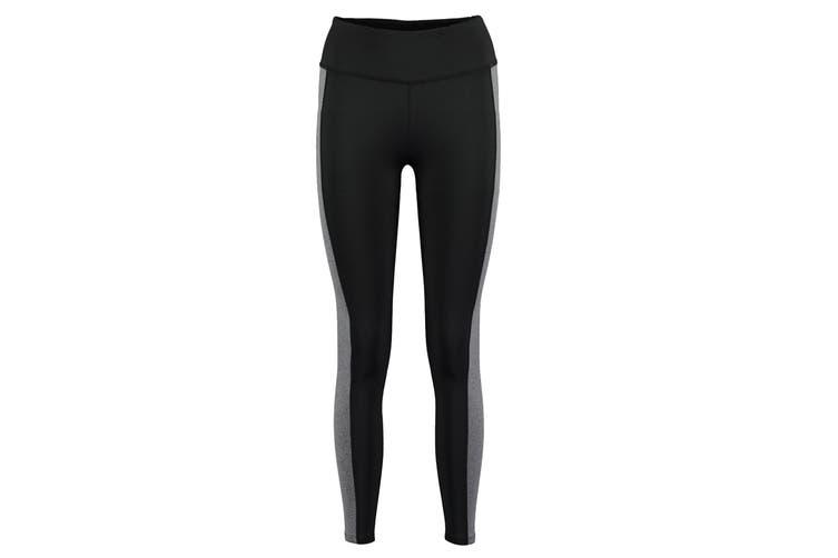 Gamegear Womens/Ladies Contrast Leggings (Black/Grey Melange) (6)