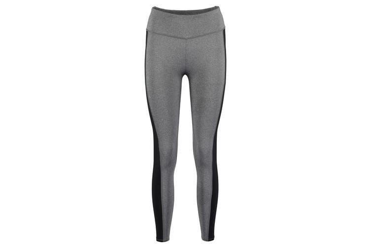 Gamegear Womens/Ladies Contrast Leggings (Grey Melange/Black) (6)