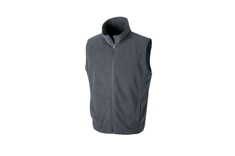 Result Core Mens Micro Fleece Gilet (Charcoal) (M)