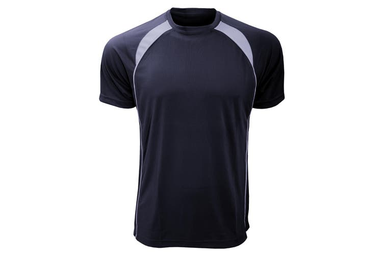 SOLS Mens Match Contrast Short Sleeve Performance T-Shirt (French Navy/White) (XL)
