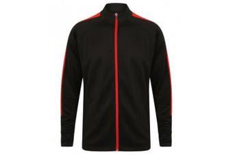 Finden & Hales Mens Knitted Tracksuit Top (Black/Red) - UTPC3082