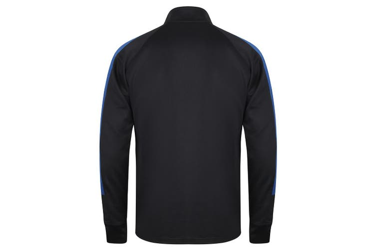 Finden & Hales Mens Knitted Tracksuit Top (Navy/Royal) (XL)