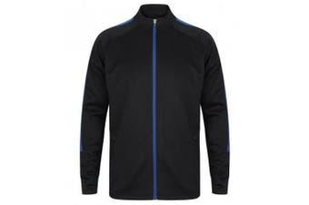 Finden & Hales Mens Knitted Tracksuit Top (Navy/Royal) - UTPC3082