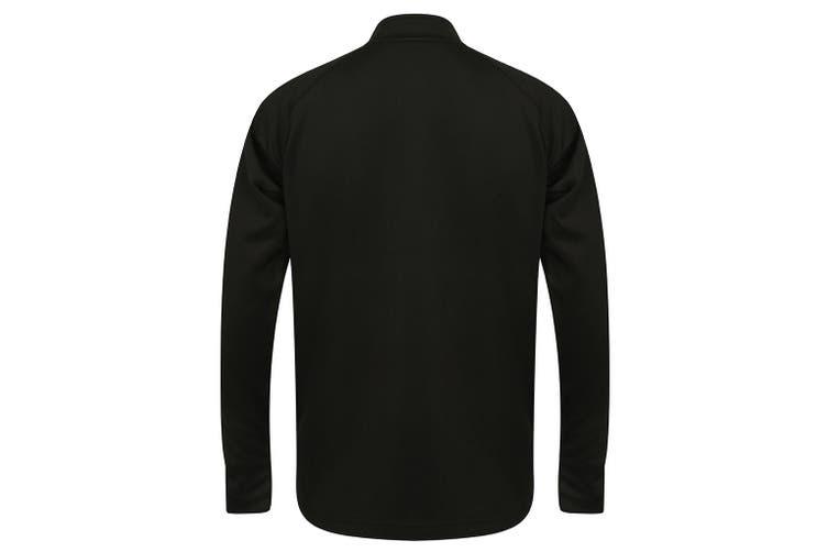 Finden & Hales Mens Knitted Tracksuit Top (Black/Gunmetal) (L)