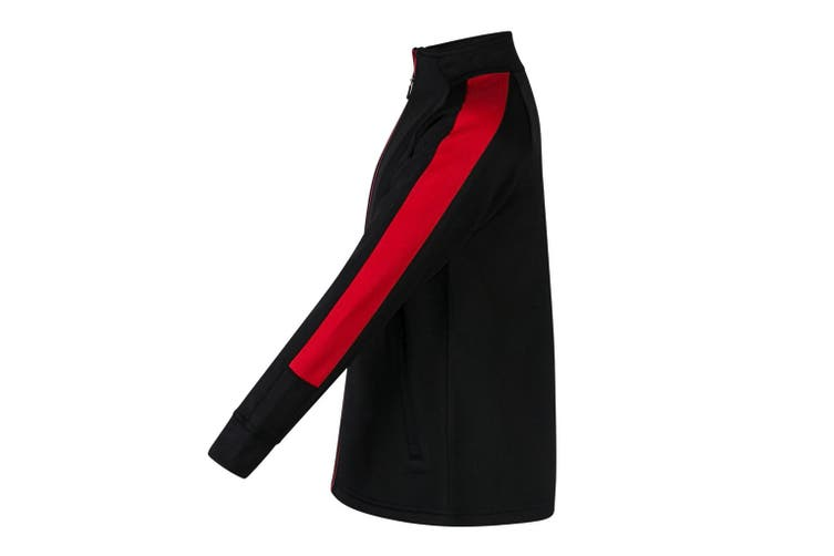 Finden & Hales Childrens/Kids Boys Knitted Tracksuit Top (Black/Red) (9/10 Years)