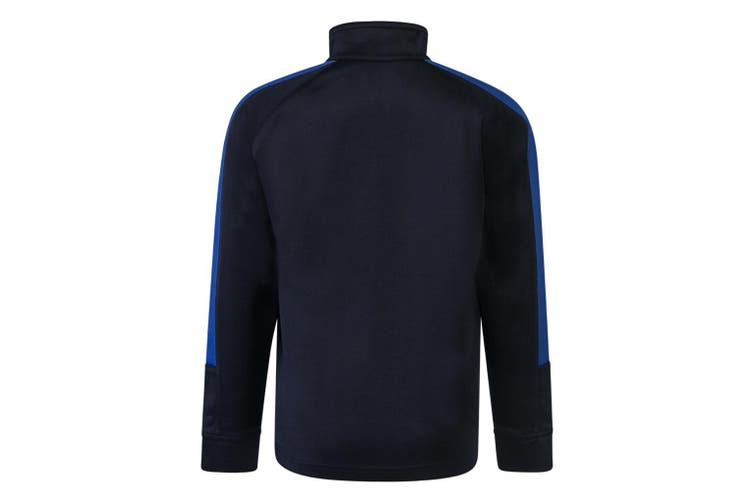 Finden & Hales Childrens/Kids Boys Knitted Tracksuit Top (Navy/Royal) (5/6 Years)
