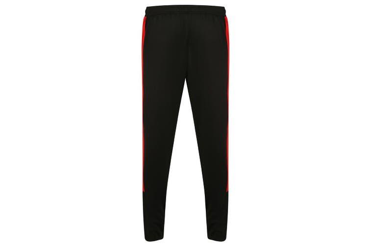 Finden & Hales Mens Knitted Tracksuit Pants (Black/Red) (L)
