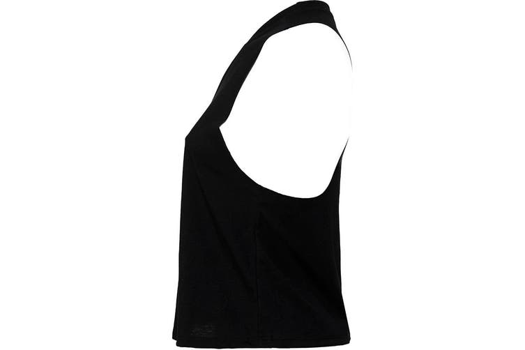 Bella Womens/Ladies Racer Back Cropped Sleeveless Tank Top (Solid Black Blend) (XL)
