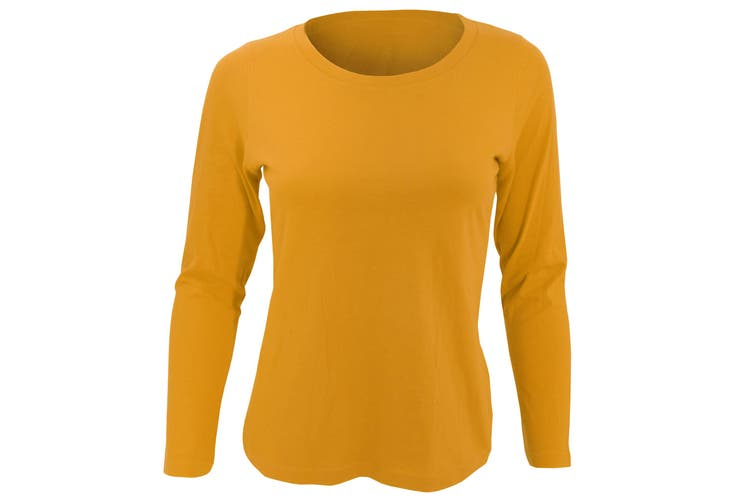 SOLS Womens/Ladies Majestic Long Sleeve T-Shirt (Orange) (XL)