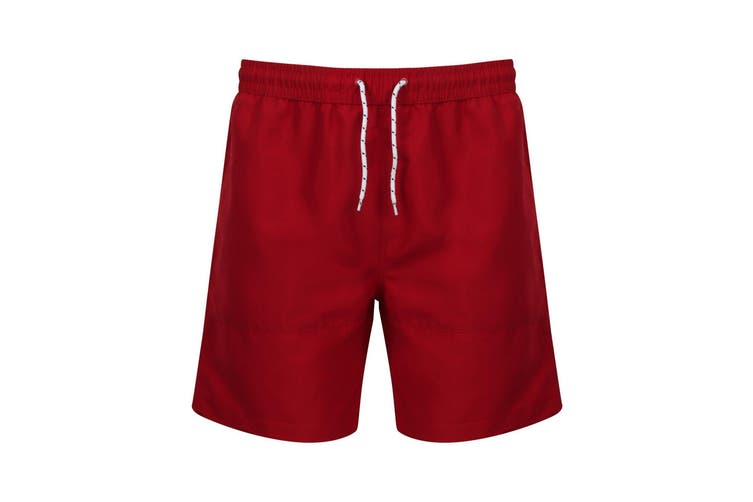 Front Row Mens Board Shorts (Vintage Red/Vintage Red) (M)