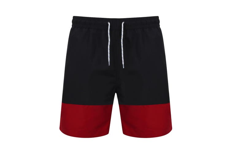 Front Row Mens Board Shorts (Navy/Vintage Red) (XS)