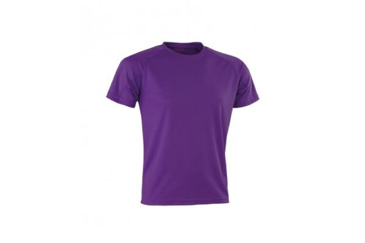 Spiro Mens Aircool T-Shirt (Purple) (XS)