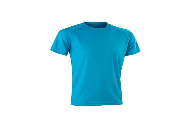 Spiro Mens Aircool T-Shirt (Ocean Blue) (XXS)