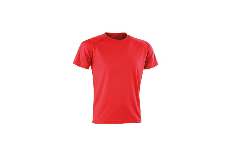 Spiro Mens Aircool T-Shirt (Red) (S)