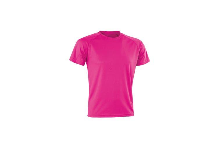 Spiro Mens Aircool T-Shirt (Flo Pink) (2XS)