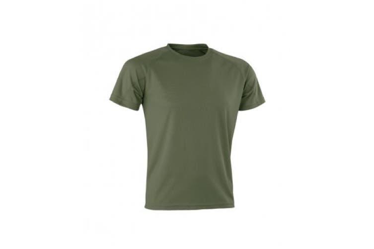 Spiro Mens Aircool T-Shirt (Combat) (S)