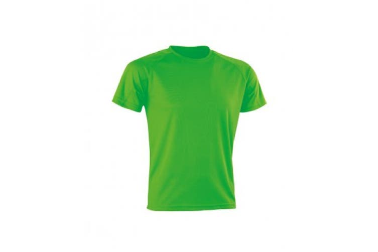 Spiro Mens Aircool T-Shirt (Flo Green) (S)