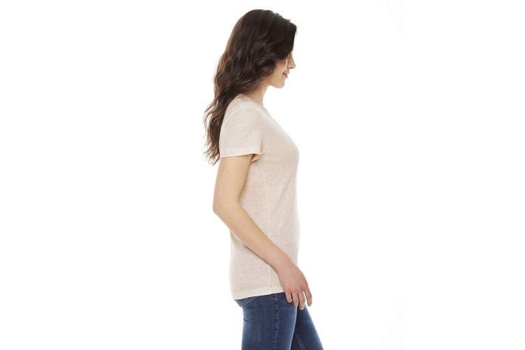 American Apparel Womens/Ladies Tri-Blend Track T-Shirt (Tri-Oatmeal) (L)