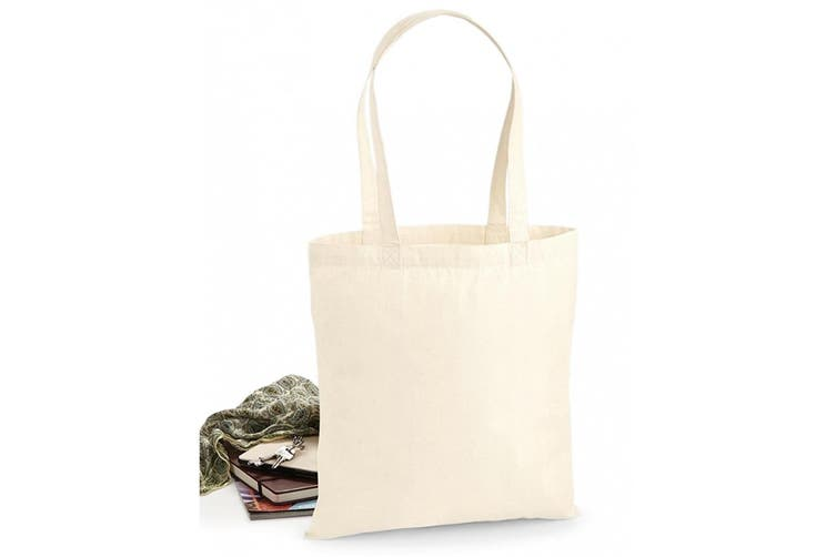 Westford Mill Premium Cotton Tote Bag (Natural) (One Size)