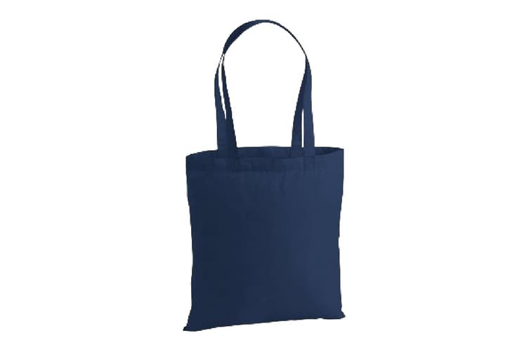 Westford Mill Premium Cotton Tote Bag (French Navy) (One Size)