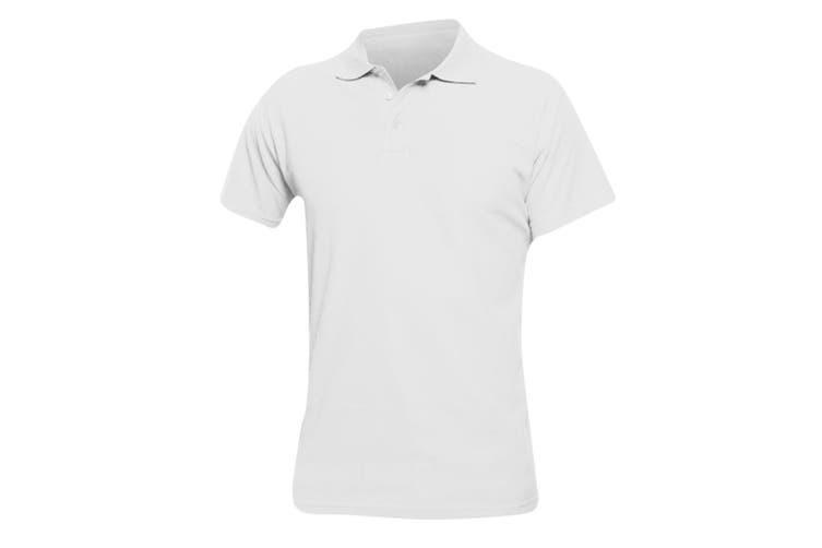 SOLS Mens Spring II Short Sleeve Heavyweight Polo Shirt (White) (5XL)