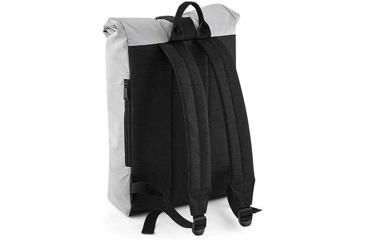 BagBase Reflective Roll Top Backpack (Silver Reflective) (One Size)