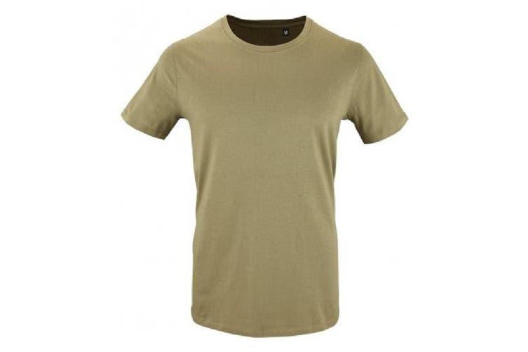 SOLS Mens Milo Organic T-Shirt (Khaki) (S)