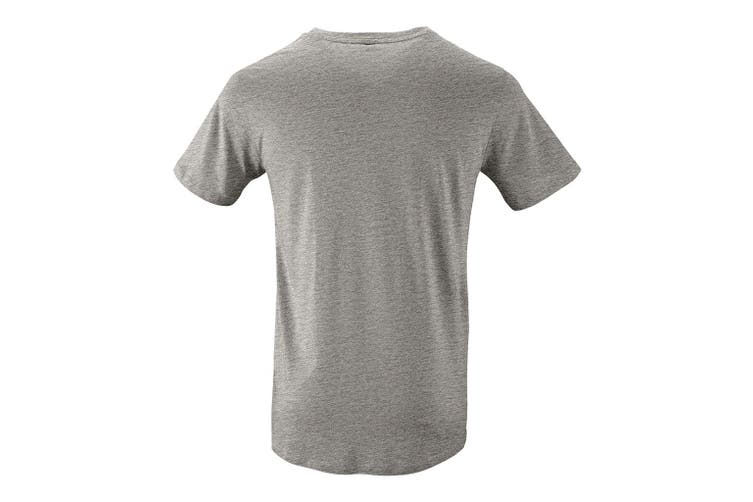 SOLS Mens Milo Organic T-Shirt (Grey Marl) (S)