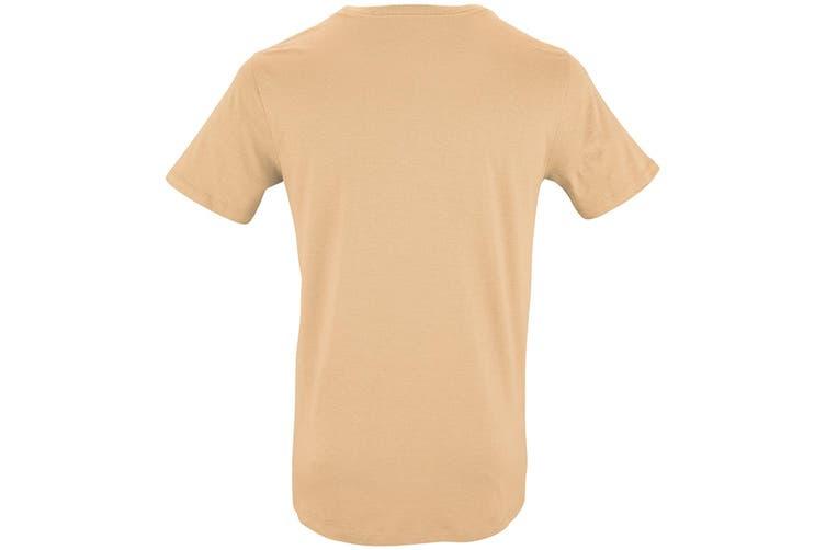 SOLS Mens Milo Organic T-Shirt (Sand) (L)