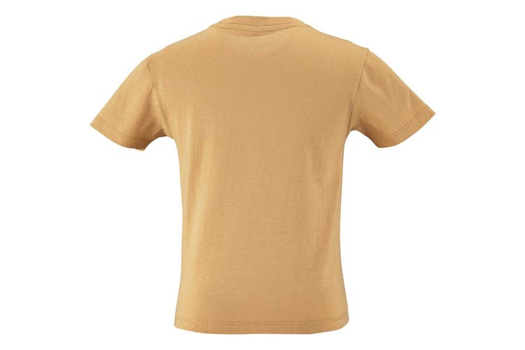 SOLS Childrens Kids Milo Organic T-Shirt (Sand) (12 Years)