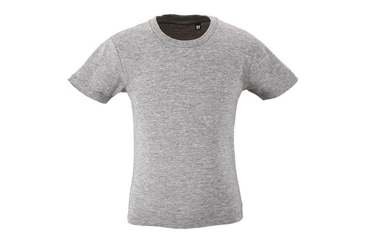 SOLS Childrens Kids Milo Organic T-Shirt (Grey Marl) (12 Years)