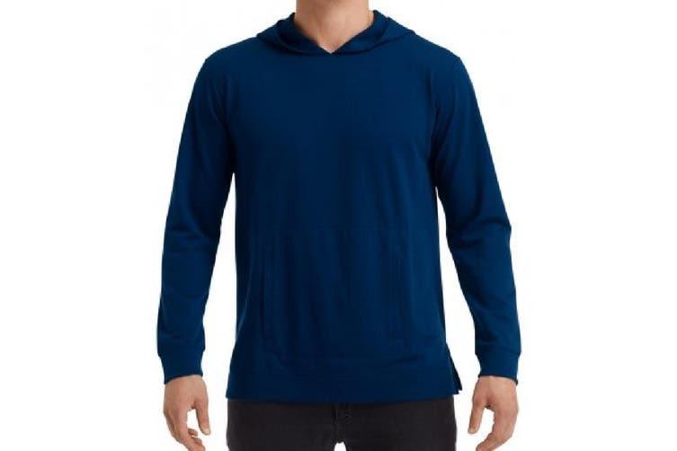 Anvil Unisex Adults Lightweight Terry Hooded Sweatshirt (Navy) (XL)