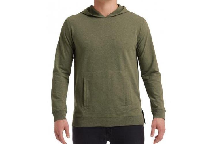 Anvil Unisex Adults Lightweight Terry Hooded Sweatshirt (Heather City Green) (3XL)