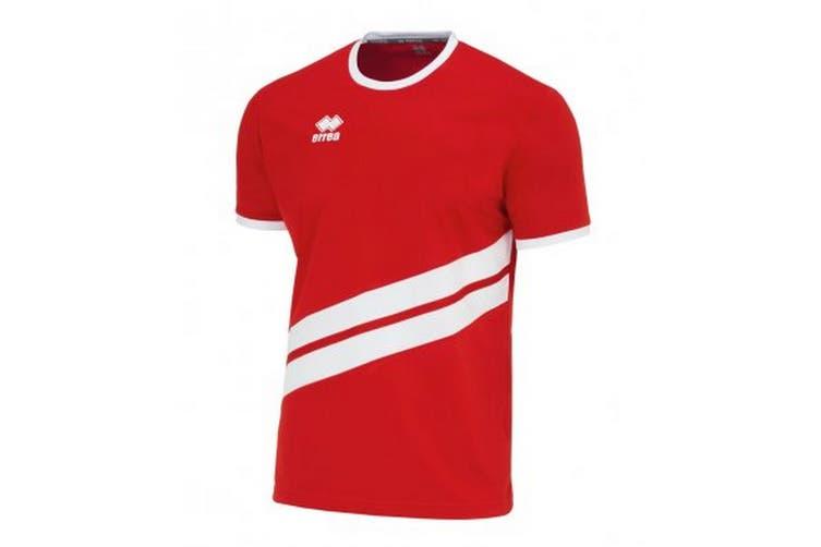 Errea Unisex Childrens/Kids Jaro Short Sleeved Sports Shirt (Red/White) (XS)
