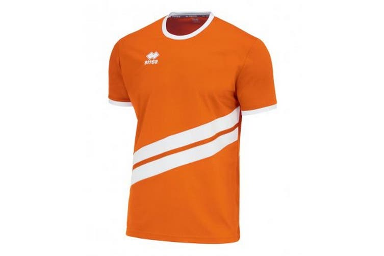 Errea Unisex Childrens/Kids Jaro Short Sleeved Sports Shirt (Orange/White) (XS)
