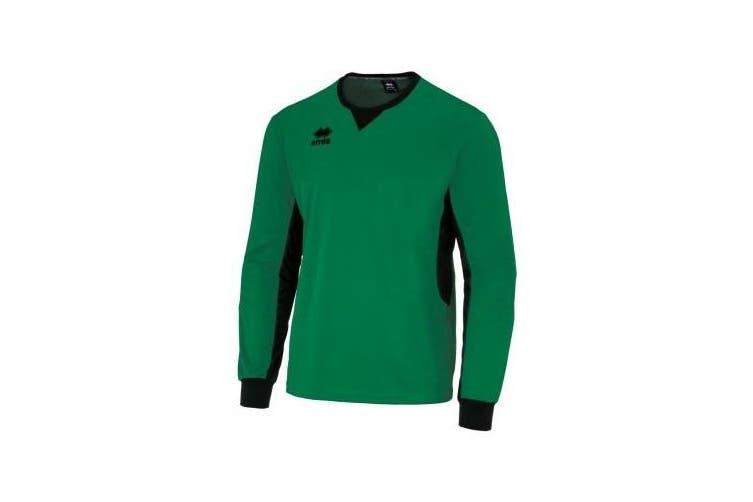 Errea Unisex Simon Long Sleeved Goalkeeper Shirt (Green/Black) (XXL)