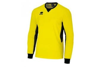 Errea Unisex Simon Long Sleeved Goalkeeper Shirt (Yellow/Black) (L)