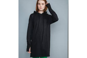 Mantis Womens/Ladies Hoodie Dress (Black) (S)