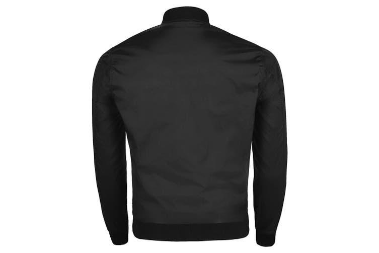 SOLS Unisex Roscose Bomber Jacket (Black) (L)