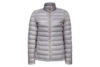 SOLS Womens/Ladies Wilson Lightweight Padded Jacket (Metal Grey) (XL)