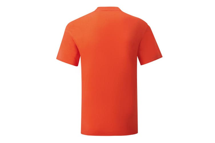 Fruit Of The Loom Mens Iconic T-Shirt (Flame Orange) (L)