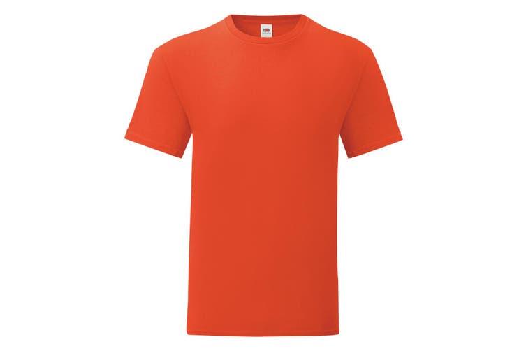 Fruit Of The Loom Mens Iconic T-Shirt (Flame Orange) (M)