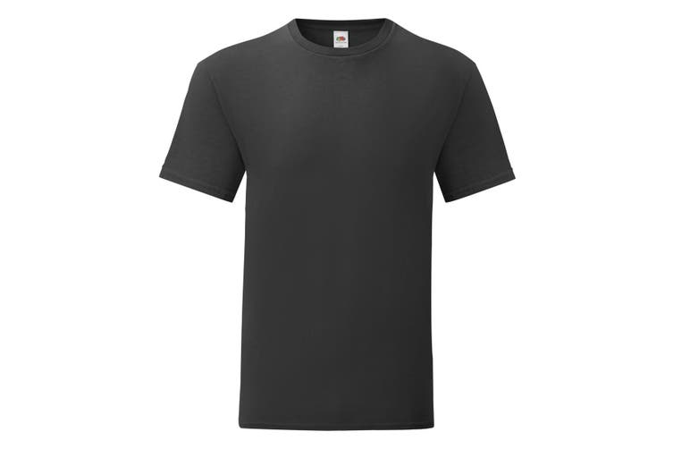 Fruit Of The Loom Mens Iconic T-Shirt (Black) (M)