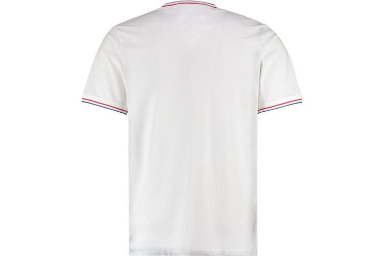 Kustom Kit Mens Fashion Fit Tipped T-Shirt (White/Red/Royal Blue) (M)