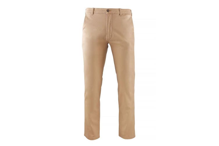 Brook Taverner Mens Miami Slim Fit Chino Trousers (Beige) (32L)