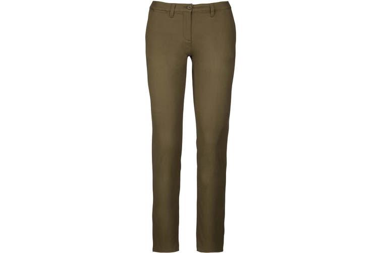 Kariban Womens/Ladies Chino Trousers (Light Khaki) (14 UK)