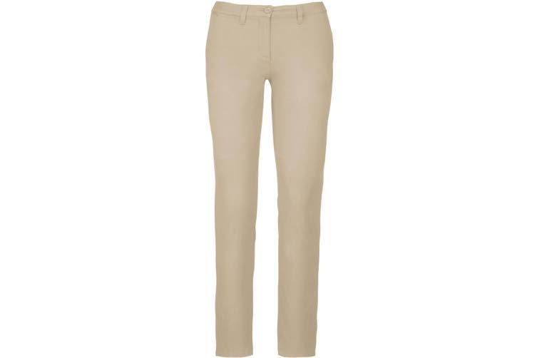 Kariban Womens/Ladies Chino Trousers (Beige) (18 UK)