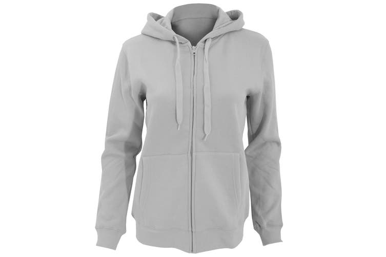 SOLS Womens/Ladies Seven Full Zip Hooded Sweatshirt / Hoodie (Grey Marl) (L)